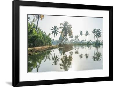 Moored Reflection-Bobby Joshi-Framed Giclee Print