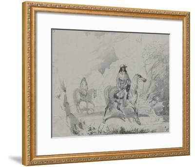 A Bourgeois of the Rocky Mountains, c.1837-Alfred Jacob Miller-Framed Premium Giclee Print