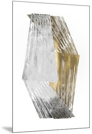 Silver & Gold Foil Stripes-Jennifer Goldberger-Mounted Art Print