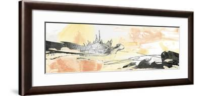 Silver Geode Landscape I-June Erica Vess-Framed Art Print