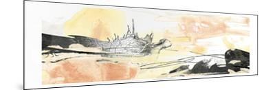 Silver Geode Landscape I-June Erica Vess-Mounted Art Print