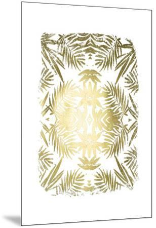Gold Foil Tropical Kaleidoscope I-June Erica Vess-Mounted Art Print