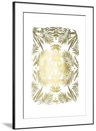 Gold Foil Tropical Kaleidoscope I-June Erica Vess-Framed Art Print