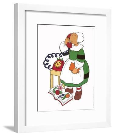 Becassine au telephone-Unknown-Framed Art Print