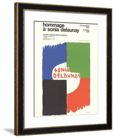Tribute to Sonia Delaunay-Sonia Delaunay-Framed Collectable Print