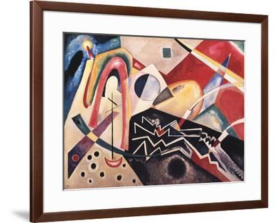 White Zig Zag-Wassily Kandinsky-Framed Collectable Print