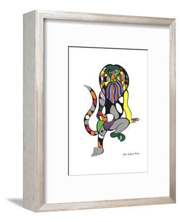Singe-Lion (Monkey-Lion)-Niki de Saint Phalle-Framed Serigraph