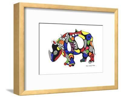 Rhinoceros-Niki de Saint Phalle-Framed Serigraph