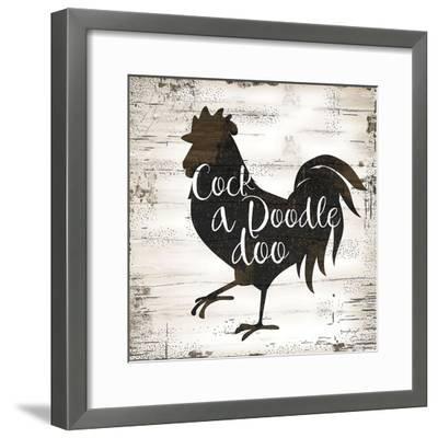 Farmhouse Rooster-Jennifer Pugh-Framed Art Print