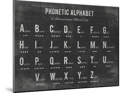 Phonetic Alphabet-The Vintage Collection-Mounted Giclee Print
