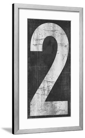 Retro Numbers - Two-Tom Frazier-Framed Giclee Print