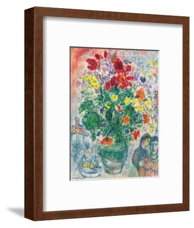 Grand Bouquet de Renoncules, 1968-Marc Chagall-Framed Art Print