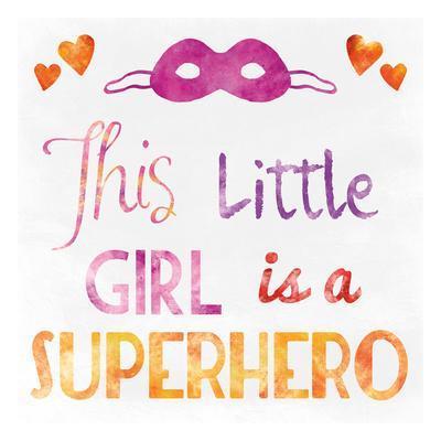 Little Super Girl-Marcus Prime-Framed Art Print