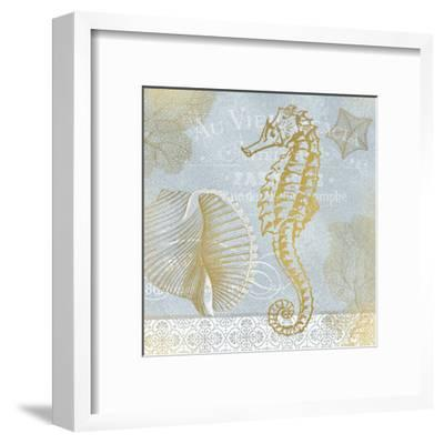Azure Coastal Calm 1-Kimberly Allen-Framed Art Print