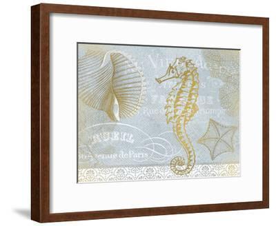 Azure Coastal Calm Series 1-Kimberly Allen-Framed Art Print