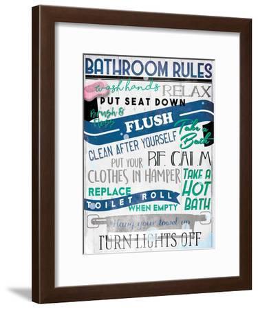 Bathroom Rules-Milli Villa-Framed Art Print