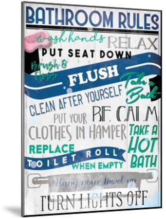Bathroom Rules-Milli Villa-Mounted Art Print