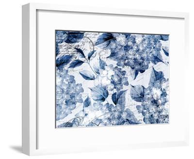 Postcard Hydrangea 1-Kimberly Allen-Framed Art Print
