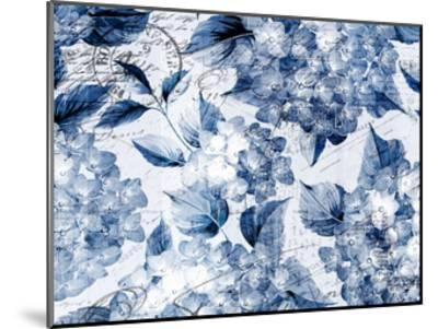 Postcard Hydrangea 1-Kimberly Allen-Mounted Art Print