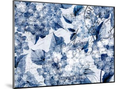 Postcard Hydrangea 2-Kimberly Allen-Mounted Art Print