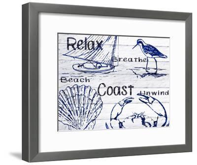 Beach Coast-Kimberly Allen-Framed Art Print