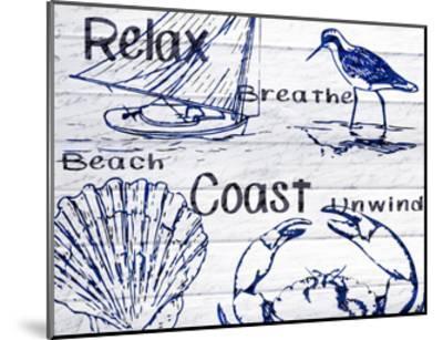 Beach Coast-Kimberly Allen-Mounted Art Print