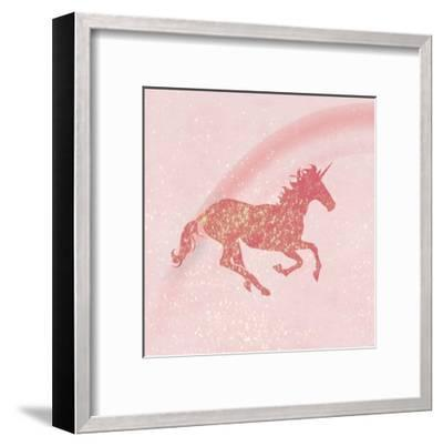 Glitter Unicorn 1-Kimberly Allen-Framed Art Print