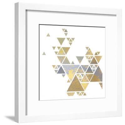 Triangle Gold 2-Kimberly Allen-Framed Art Print