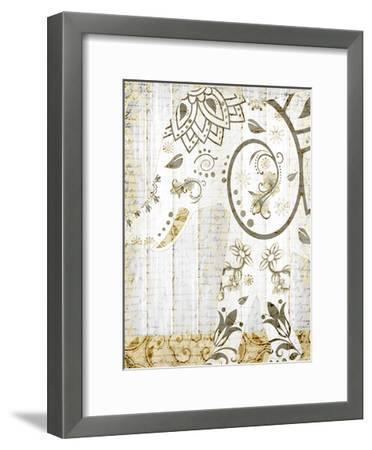 Tribal Elephant 2-Kimberly Allen-Framed Art Print