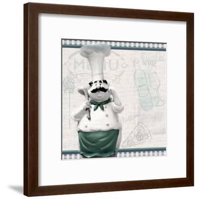 In the Kitchen 1-Kimberly Allen-Framed Art Print