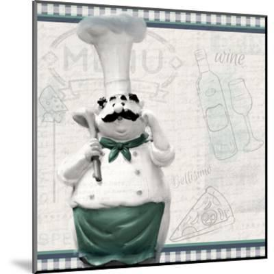 In the Kitchen 1-Kimberly Allen-Mounted Art Print