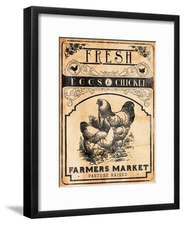 Eggs Chicken-Jace Grey-Framed Art Print