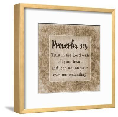 Trust In The Lord-Sheldon Lewis-Framed Art Print