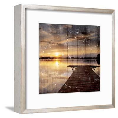 Out On The Dock-Milli Villa-Framed Art Print