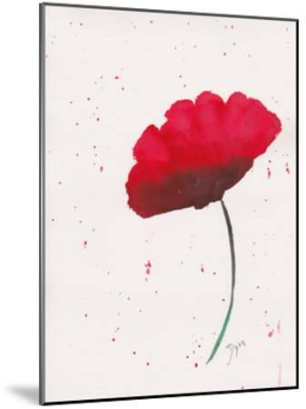 Red Poppy 2-Beverly Dyer-Mounted Art Print