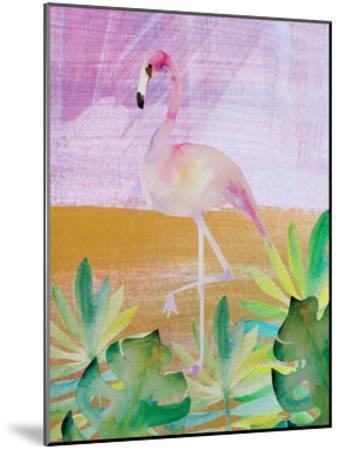 Palm Flamingo 3-Boho Hue Studio-Mounted Art Print