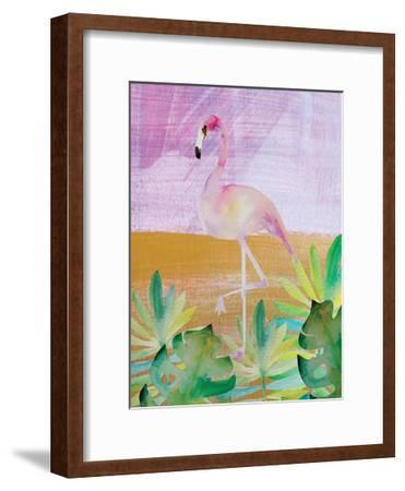 Palm Flamingo 3-Boho Hue Studio-Framed Art Print