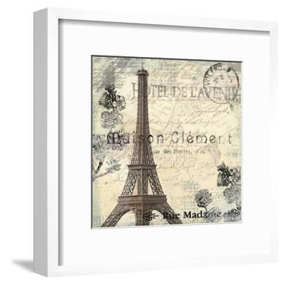 Paris Carte Postale 1-Kimberly Allen-Framed Art Print
