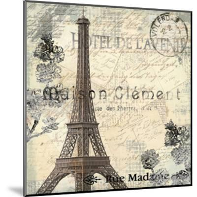 Paris Carte Postale 1-Kimberly Allen-Mounted Art Print