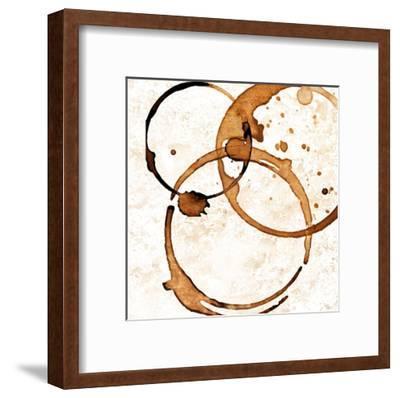 Copper Circles 2-Kimberly Allen-Framed Art Print