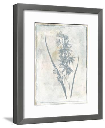 Sky Floral Three-Jace Grey-Framed Art Print