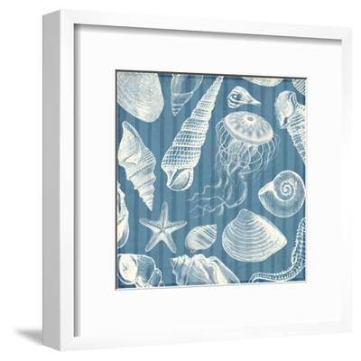 Blue Sea Mash Up-Jace Grey-Framed Art Print