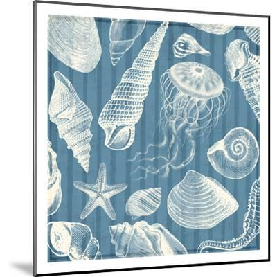 Blue Sea Mash Up-Jace Grey-Mounted Art Print