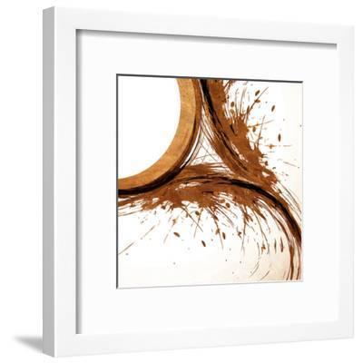 Copper Swirls 1-Kimberly Allen-Framed Art Print