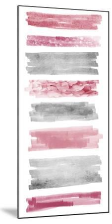 Blush Paint Streaks-Marcus Prime-Mounted Art Print