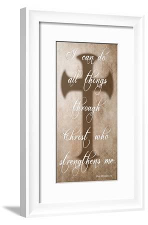 All Things Through Christ-Sheldon Lewis-Framed Art Print