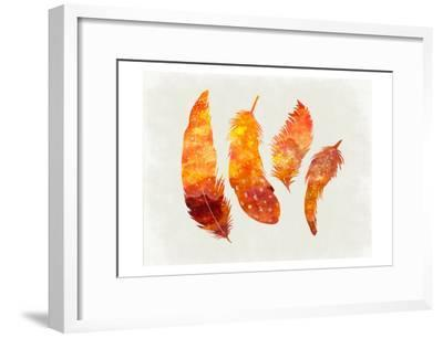 Feathery Abstract-Sheldon Lewis-Framed Art Print