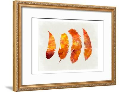 Feathery Abstract 2-Sheldon Lewis-Framed Art Print
