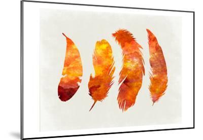 Feathery Abstract 2-Sheldon Lewis-Mounted Art Print