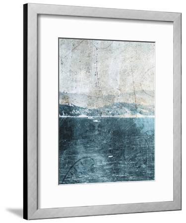 Sea Life-Jace Grey-Framed Art Print